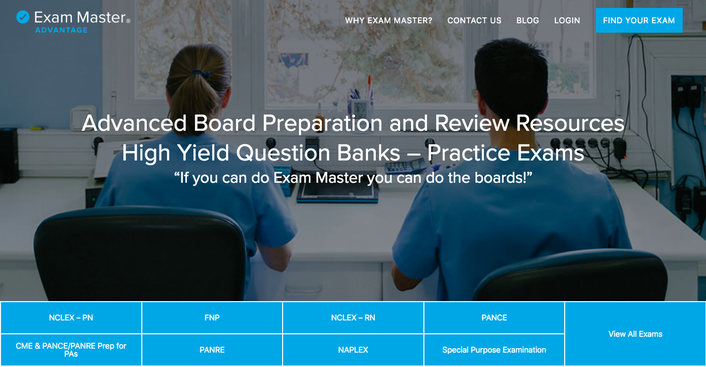 Exam Master Home Page